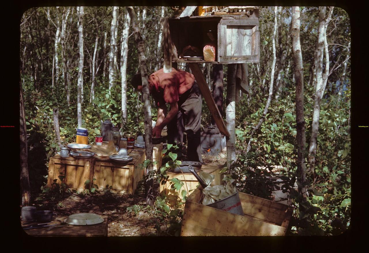 Andy Kulyk outdoor. Fisherman's Camp Loon Lake 08/22/1944