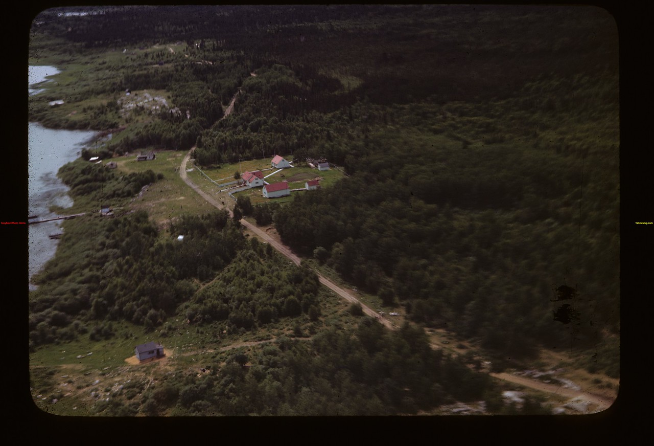Hudson's Bay Bldgs from the air La Ronge 06/22/1946