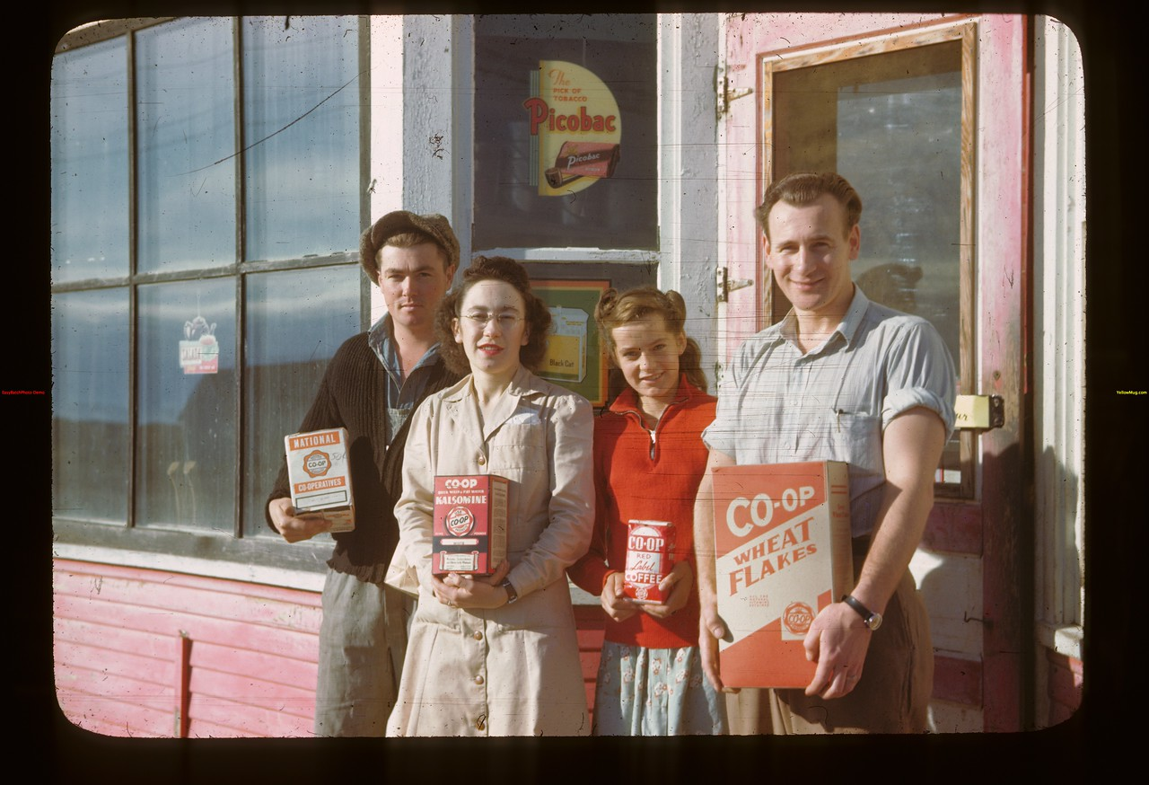 Fairy Glen Co-op store - staff and customers	 Fairy Glen	 09/27/1946
