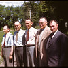 Pool Country organizational staff at PA Co-op school.  Alex Gilliland & Jack Pavelick & John Stratychuk & Les Stutt & Bob Beaulac..  Prince Albert.  07/11/1946