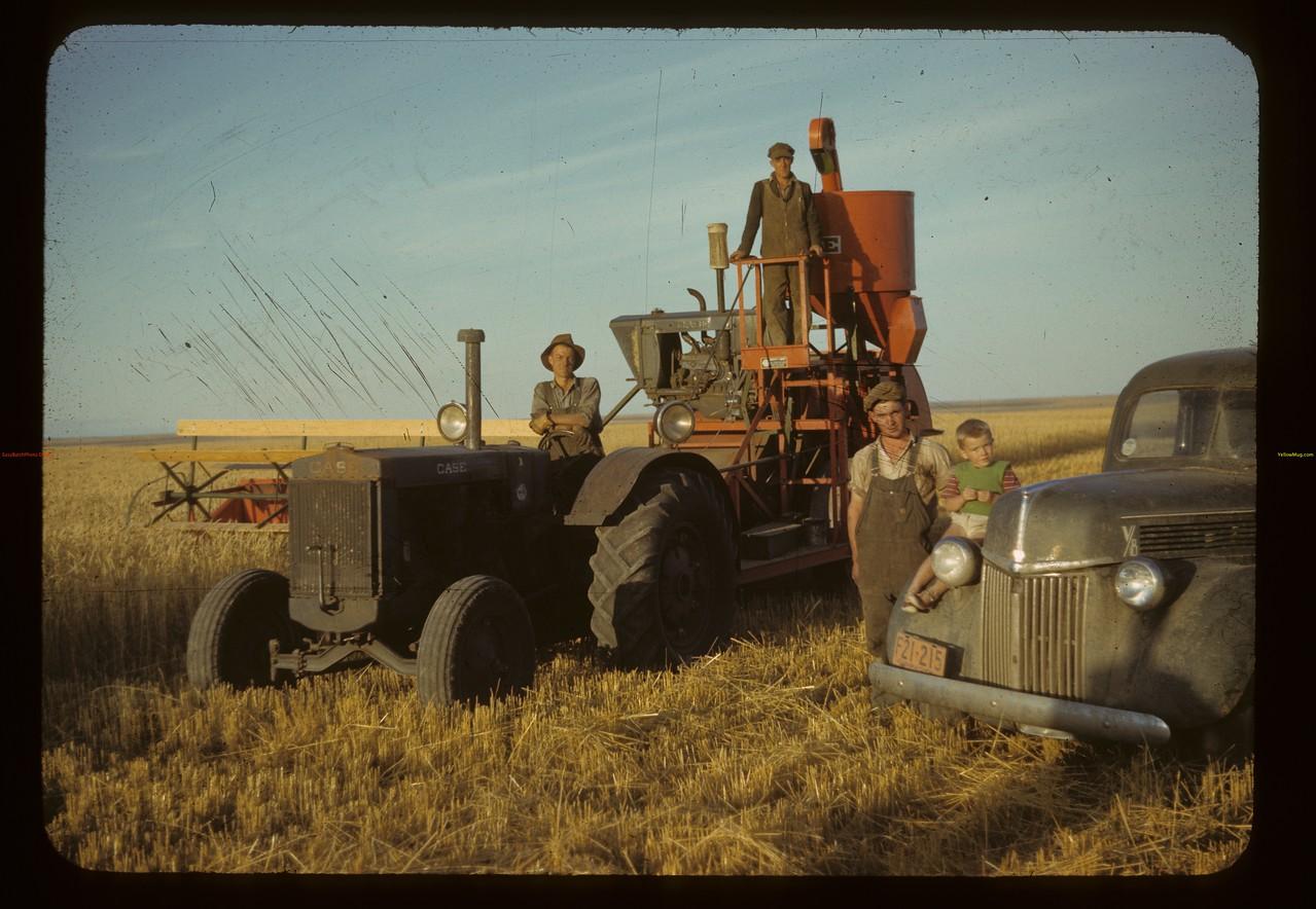 D. J. McCuaig's new combine. Eastend. 08/28/1942
