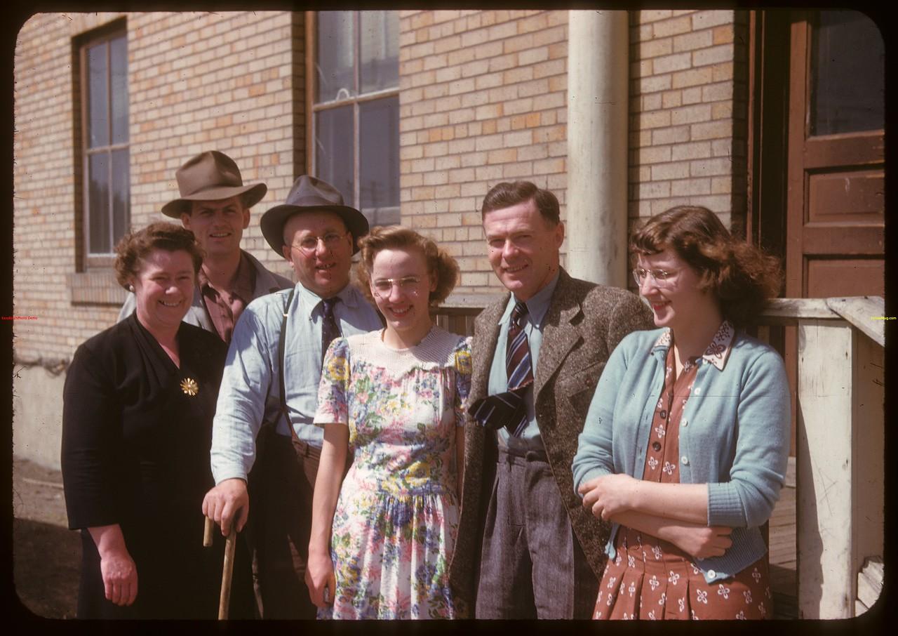 Livestock Pool staff - Co-op stock yards. Moose Jaw 04/28/1947