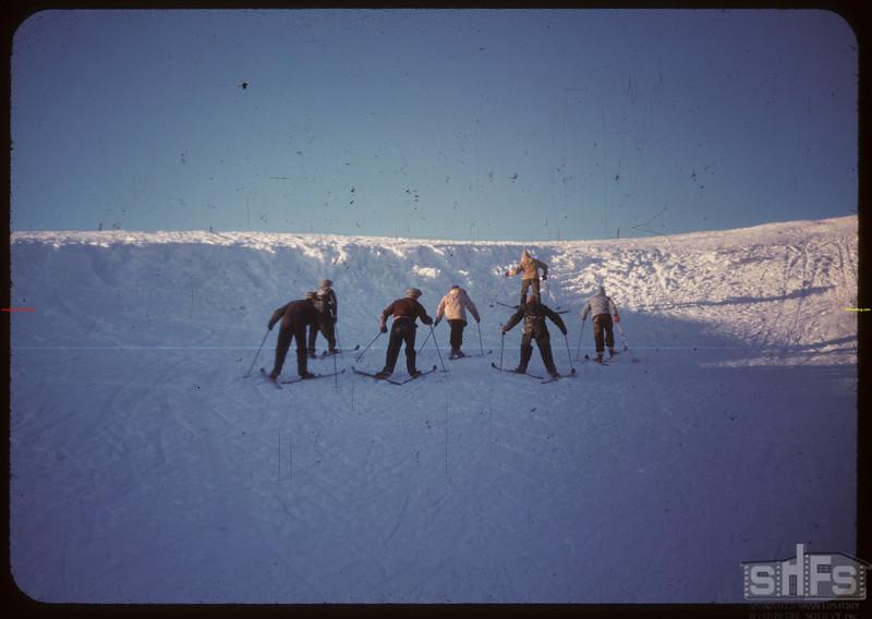 Climbing back up hill - Youth Training School..  North Battleford.  02/01/1948