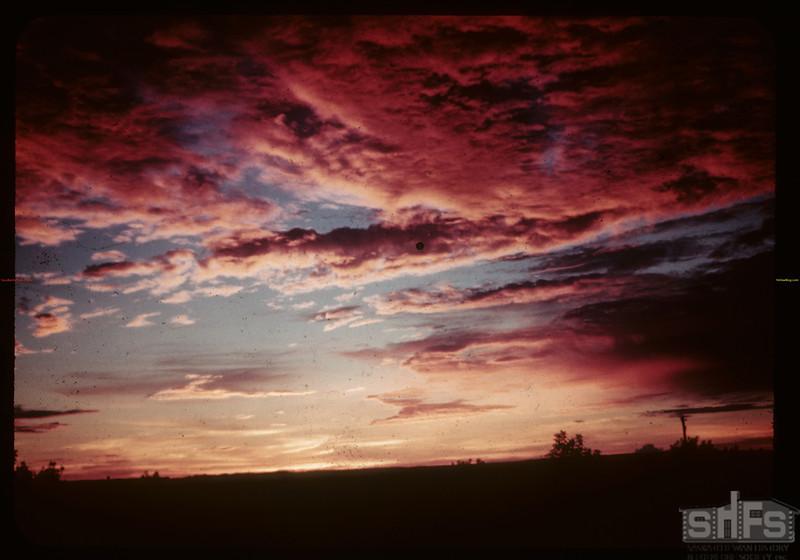 Sunset - hill above short cut. Loon Lake. 08/20/1944
