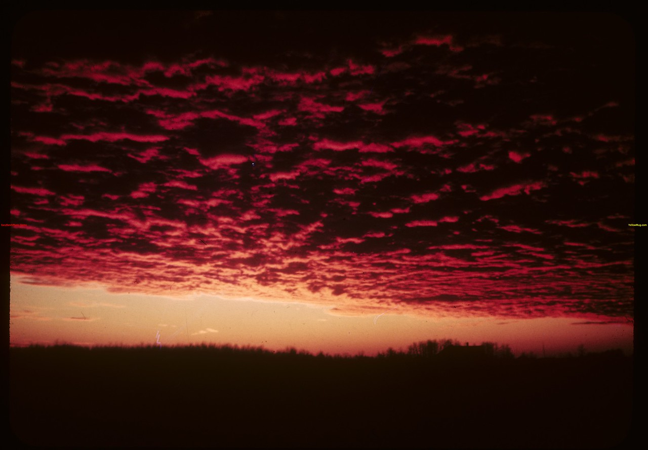 Sunset north of Prince Albert..  Prince Albert.  01/12/1945