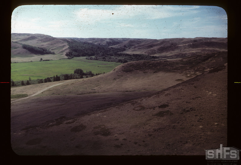 Riad North from Hill across Road Bill White Eastend 06/12/1949