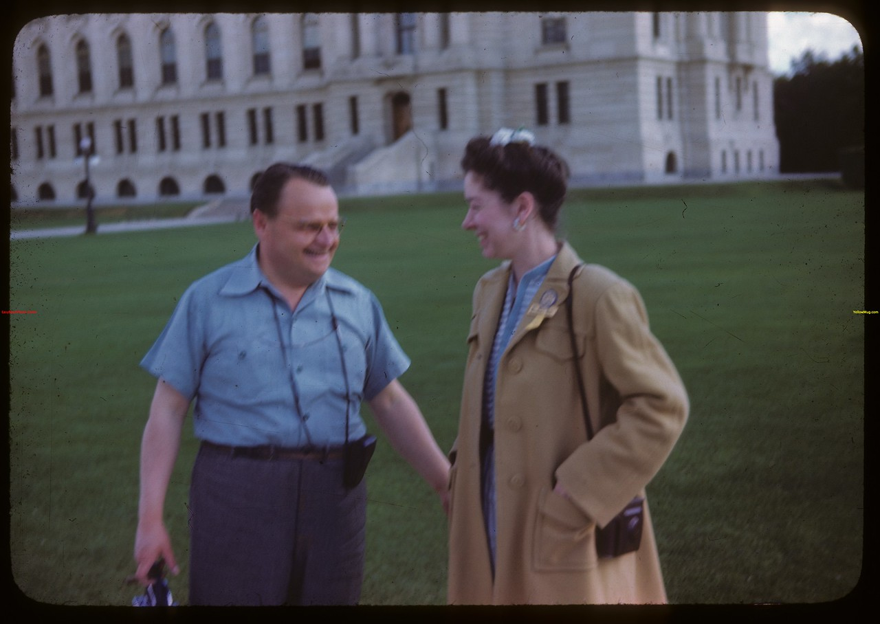 Mr. and Mrs. Ralhp Perry - the movie pepole - US Co-op tour.  Regina.  08/10/1946
