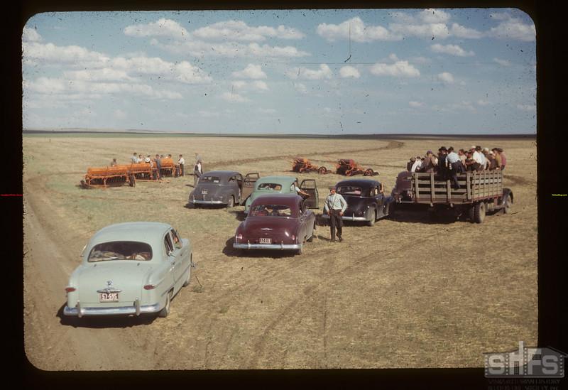 Co-op School viewing Matador. Co-op Farm Machinery Matador 07/06/1949