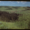 Reconstructed old Fort Walsh looking NE - old town beyond. Maple Creek 07/04/1948