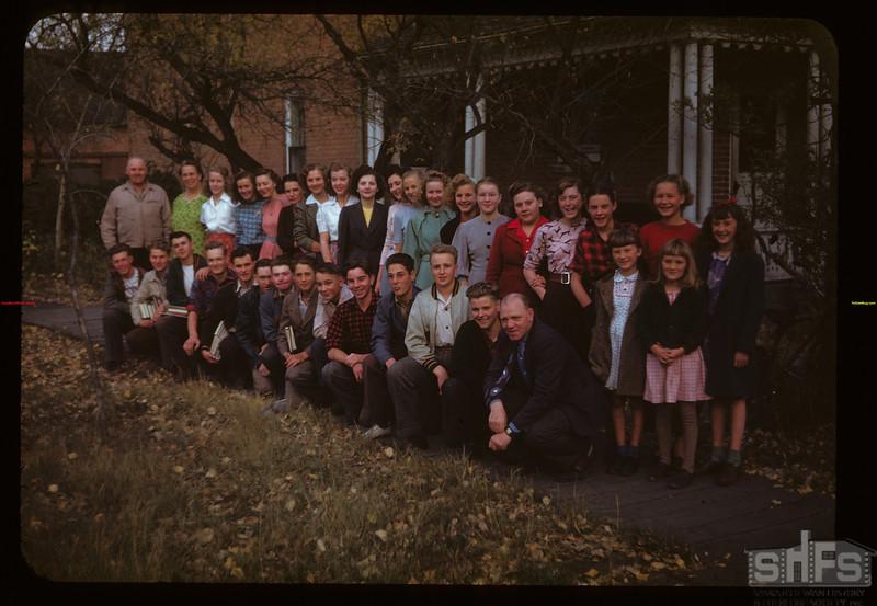 Dormitory school home - Mr & Mrs Ole Weflen. Maple Creek 10/08/1947