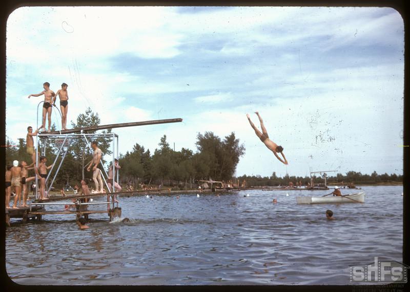 Off the diving board at Wascana Lake. Regina 08/03/1947