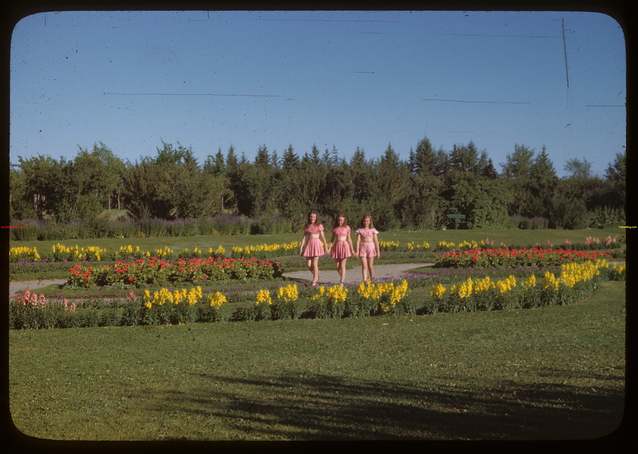 Flower gardens of Wascana Park.  Regina.  07/26/1946