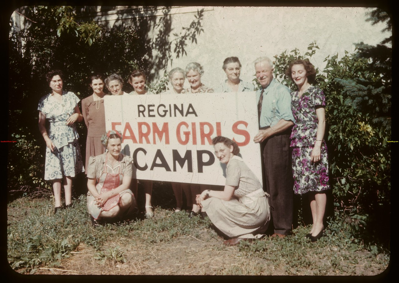 Farm girls from yesterday catering to F. B. and Company camps.  Regina.  08/01/1946