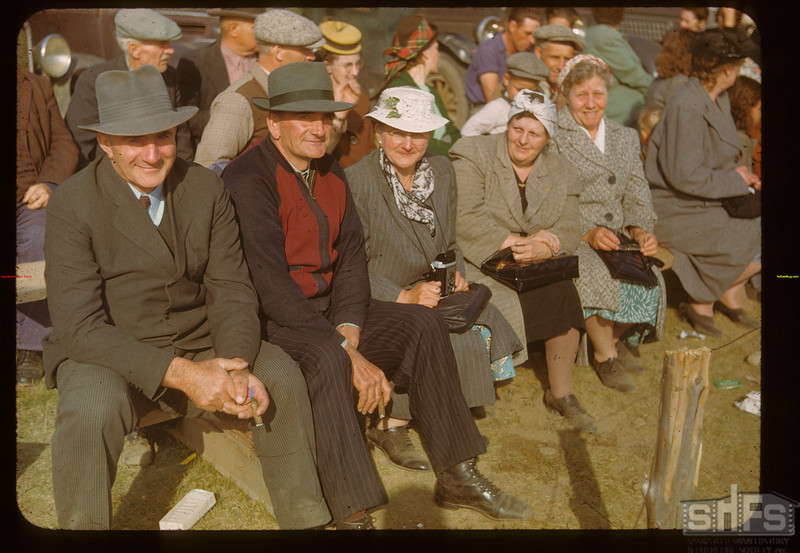 Spiess family reunion at the Calf Club show and sale..  Ponteix.  06/09/1948