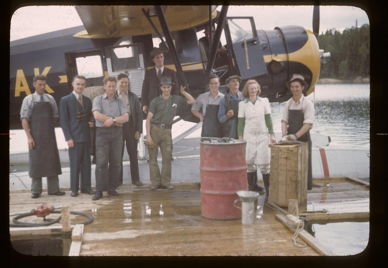 Taking leave of the fish filleting staff. Beaver Lake. 06/22/1946