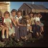 Juniors [children] in co-op farm construction camp. Carrot River. 07/18/1949