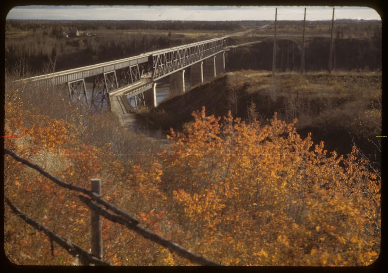 Bridge over Saskatchewan River. Nipawin. 10/07/1942