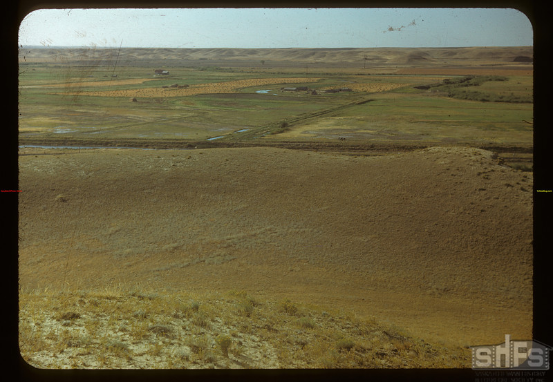 White Mud (Frenchman) irrigation project from hill 15 miles SE of Eastend.	 Eastend	 09/03/1948