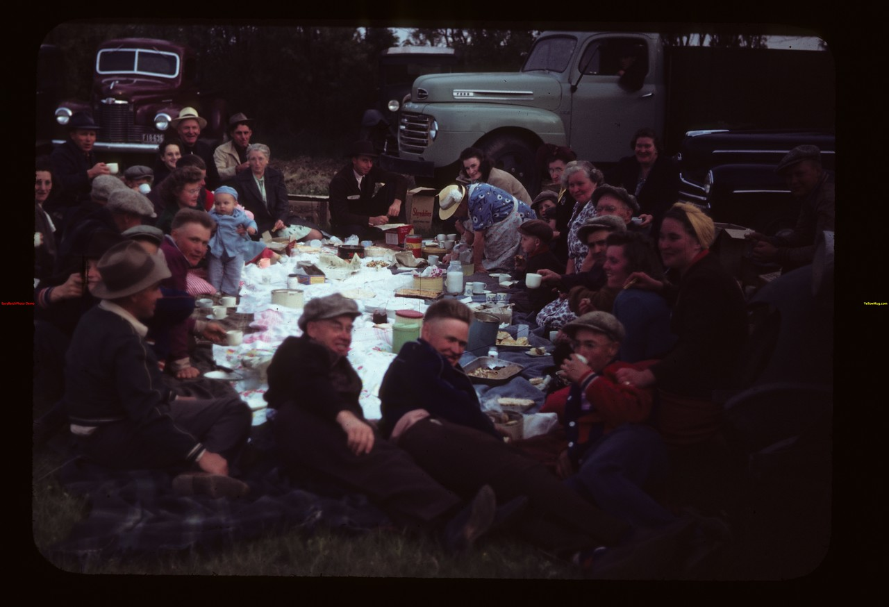 Picnic at Malcolm McTaggart's Ferland 06/17/1949