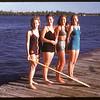 Joan Forby & Isabel Lehody & Jean Dewitt and Betty Reeson Regina Boat Club.  Regina.  09/01/1947