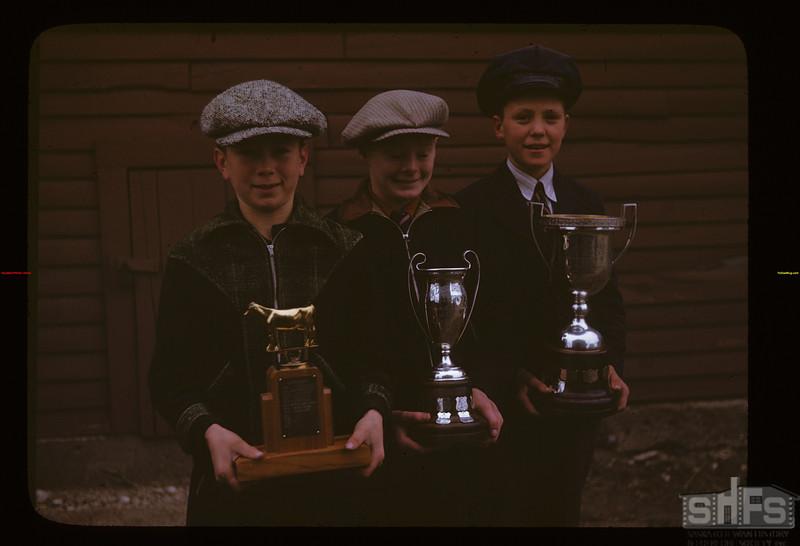 Hanley Junior Grain Club 1946 Trophies [and winners] Hanley 10/05/1946