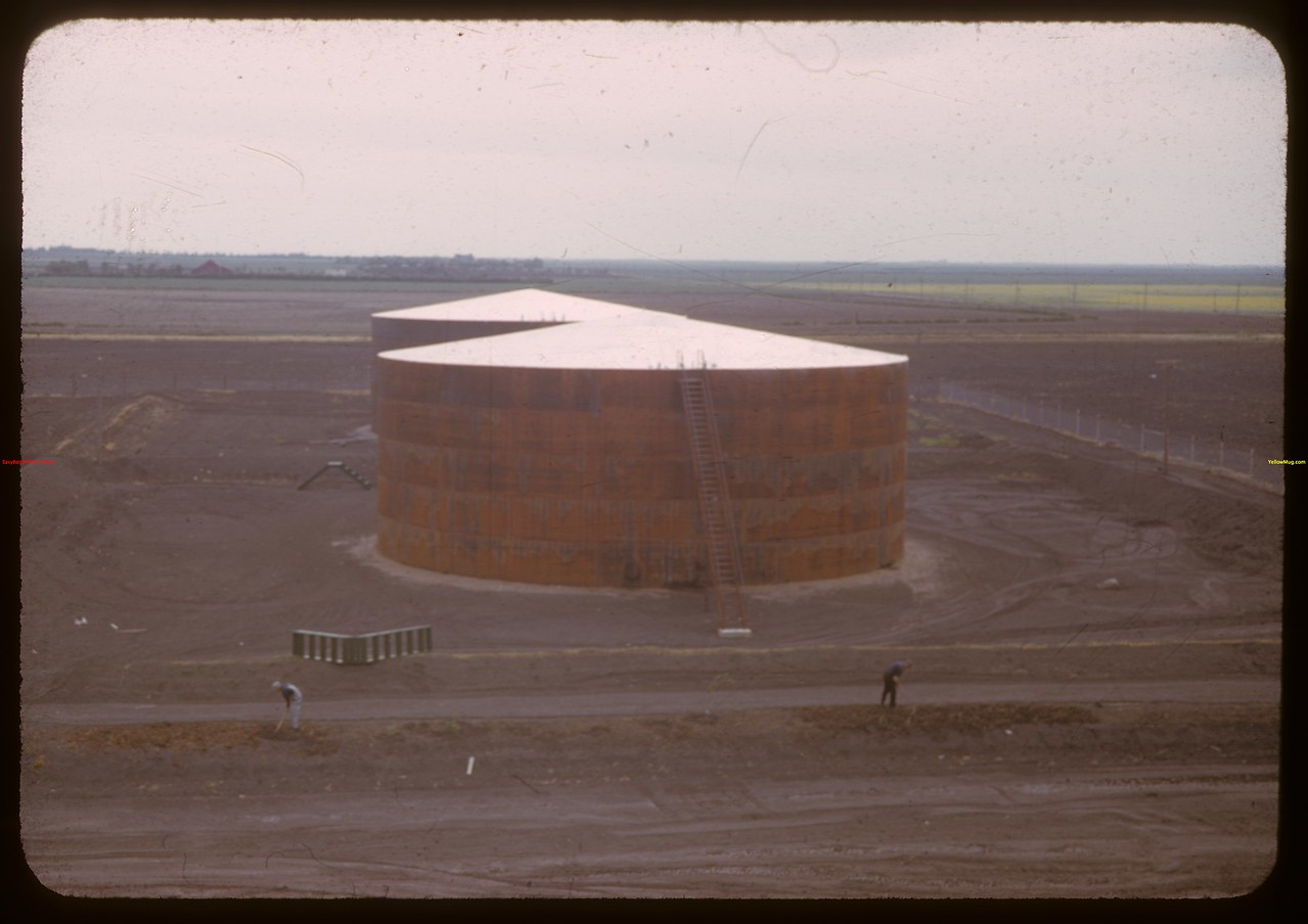 Two storage tanks each holding nearly 1 million gallons.  Regina.  07/17/1941