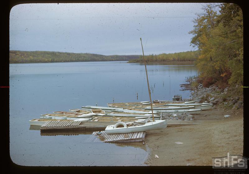 Boats at Kipabiscau Beach. Chargonass I. R. Kipabiscau 09/26/1946
