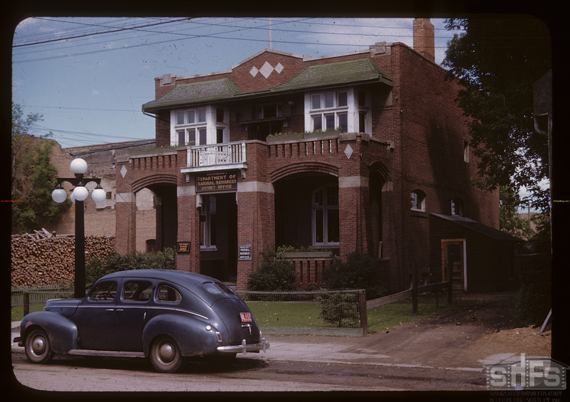 Dept. of Natural Resources office [slide given to SHFS by David Tyler].  Prince Albert.  07/12/1946