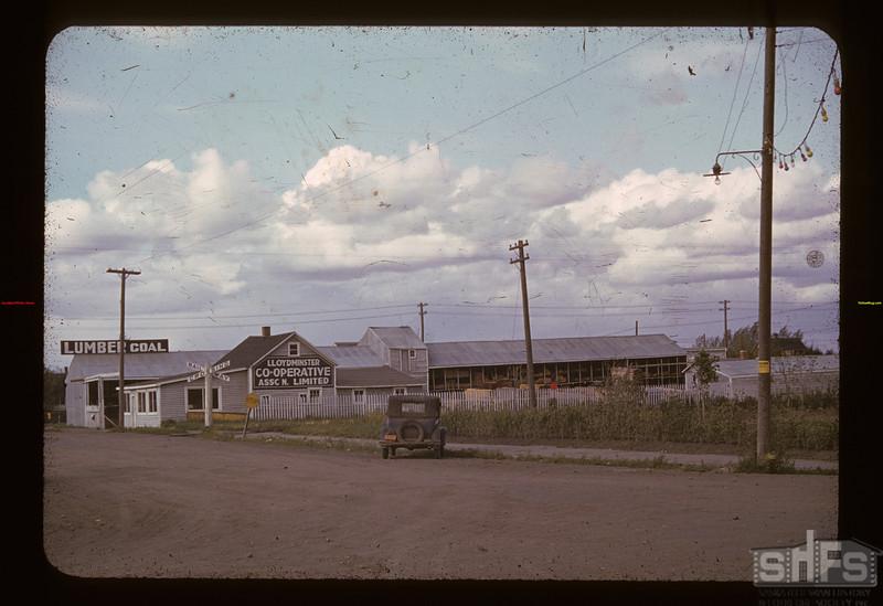 Co-op Lumber yard Lloydminster 08/17/1940