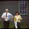 Dishwashing gang at PA co-op school. Doris Receiver - Duck Lake; Jack Pavelick - PA; Olive Blair - Garrick..  Prince Albert.  07/13/1946