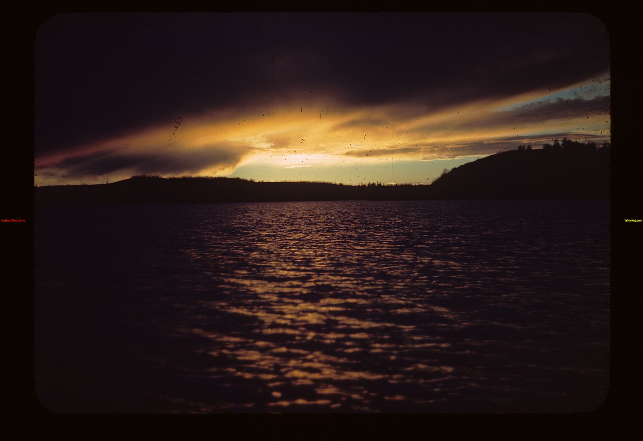 Sunset. Upper Makwa. Looking W. Toward Island Loon Lake 10/04/1944