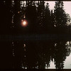 "Sun saying ""Goodnight"" - Heart Lake [slide given to SHFS by David Tyler].  Waskesiu.  06/18/1946"