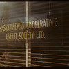 Window of Saskatchewan Cooperative Credit Society Ltd at 1932 Albert Street.  Regina.  11/08/1947
