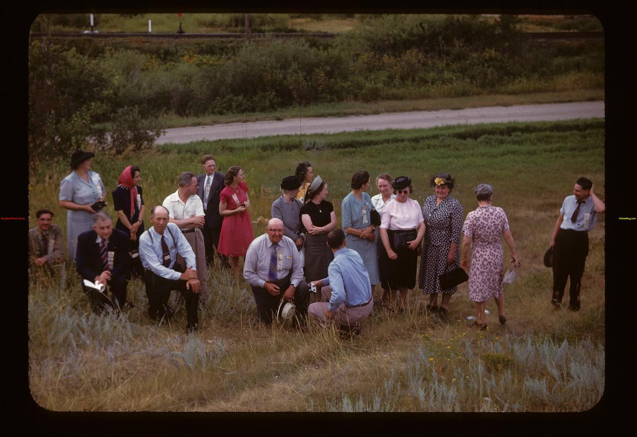 Meeting U. S. Co-op Tour Group at Lumsden Lumsden 08/10/1947