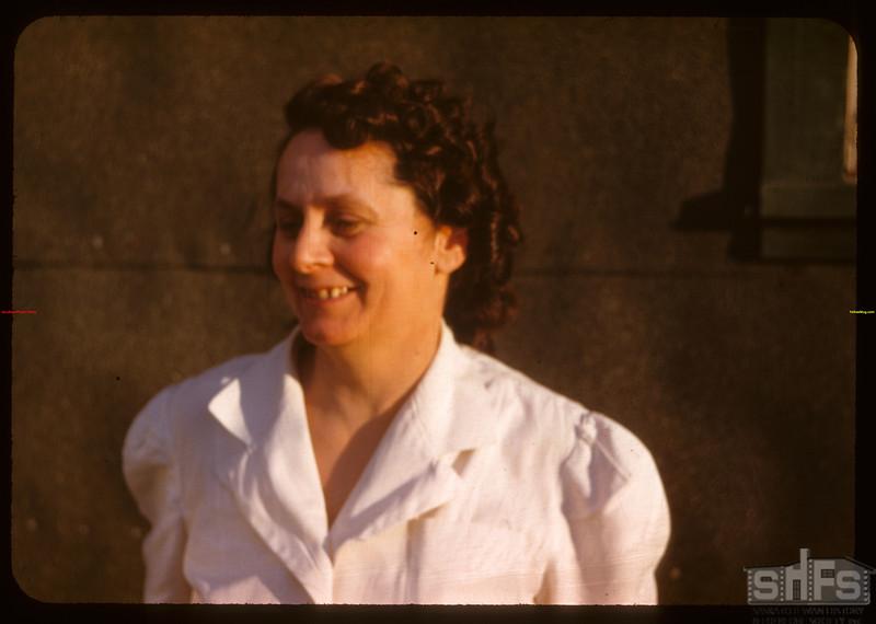 Mrs. Lida Rowe - head of co-op school kitchen gang..  Prince Albert.  07/09/1947