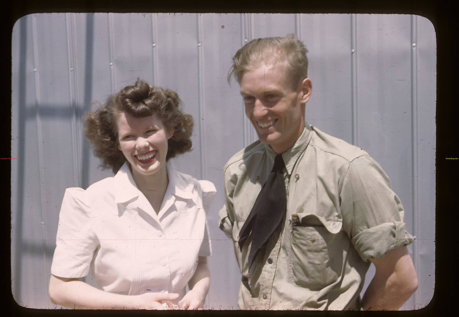 Mr. & Mrs. Anderson. Co-op Oil Couple.  Cadillac. 07/05/1946