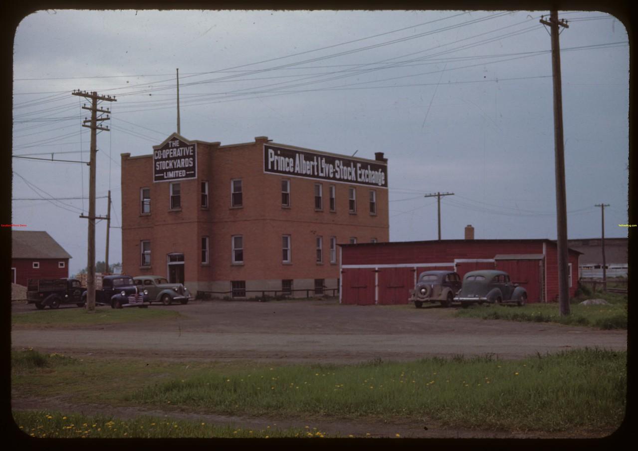 Co-op stock yards and Livestock exchange..  Prince Albert.  05/31/1944