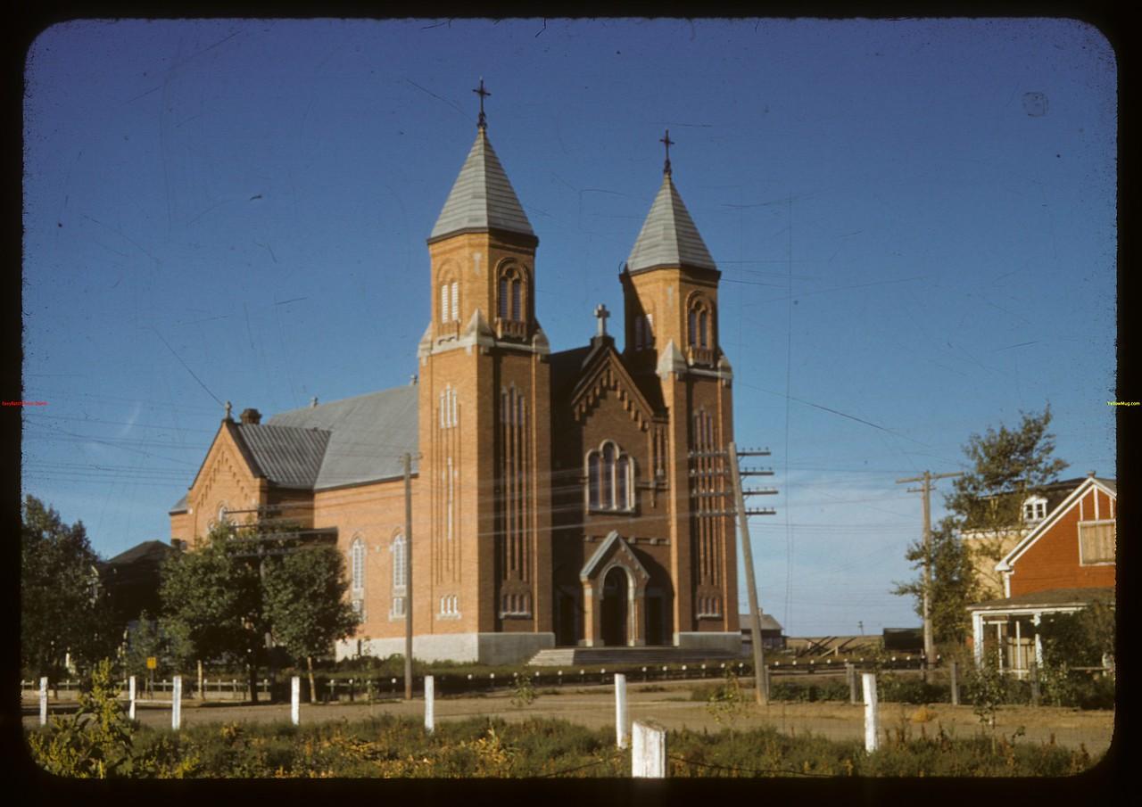 Roman Catholic Cathedral..  Ponteix.  09/10/1941