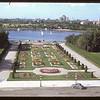 View of Legislative Building grounds from Legislative Building. Regina 08/10/1946