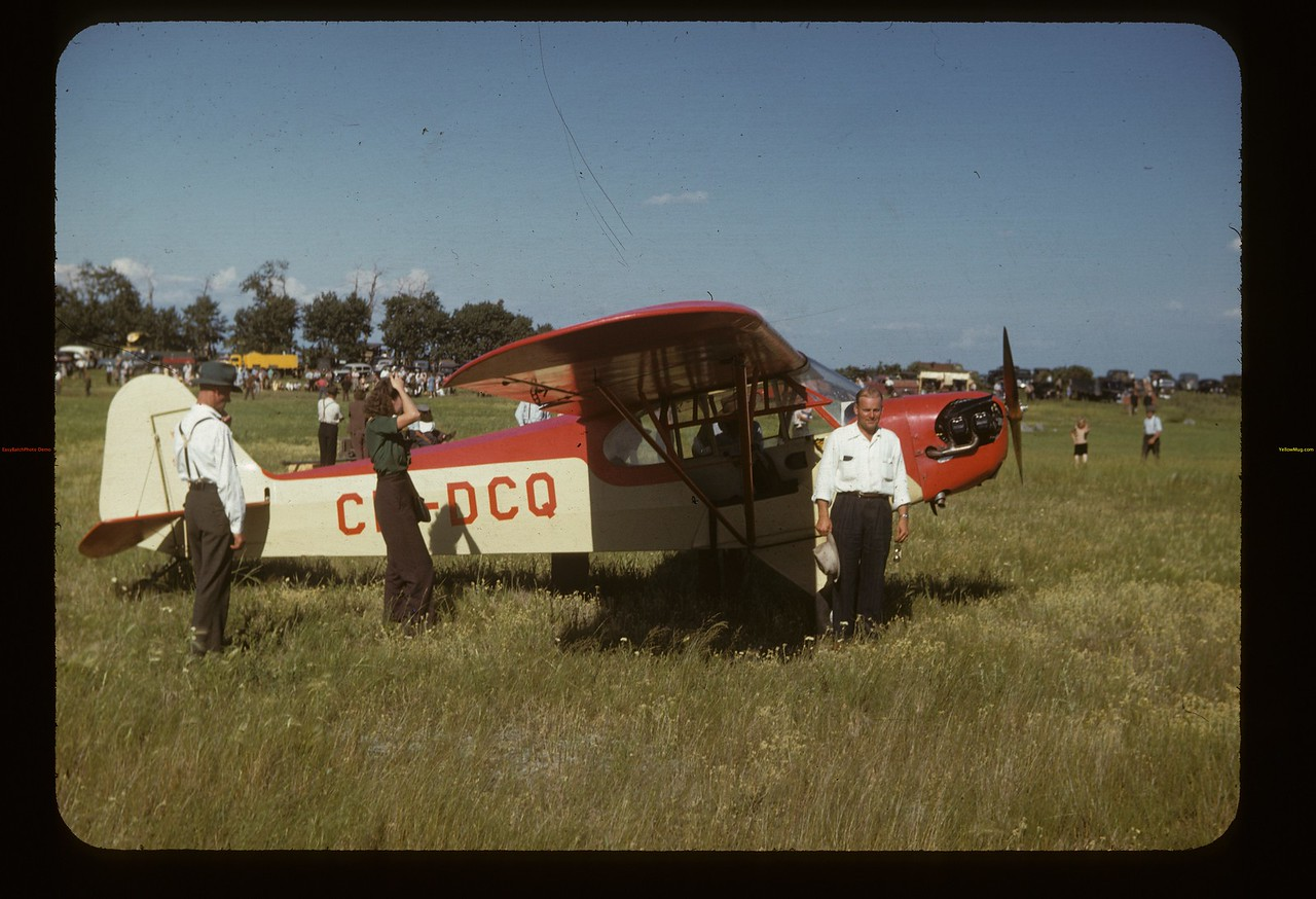 Yorkton Piper Cub - Hal Mercer pilot. Fishing Lake. 07/13/1947