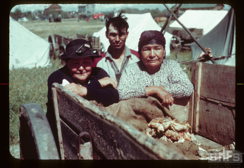 Indian bannock and smoked meat.	 Duck Lake	 07/16/1944