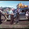 District 3 Study Tour - meet the co-op farm machinery.  North Battleford.  07/21/1949