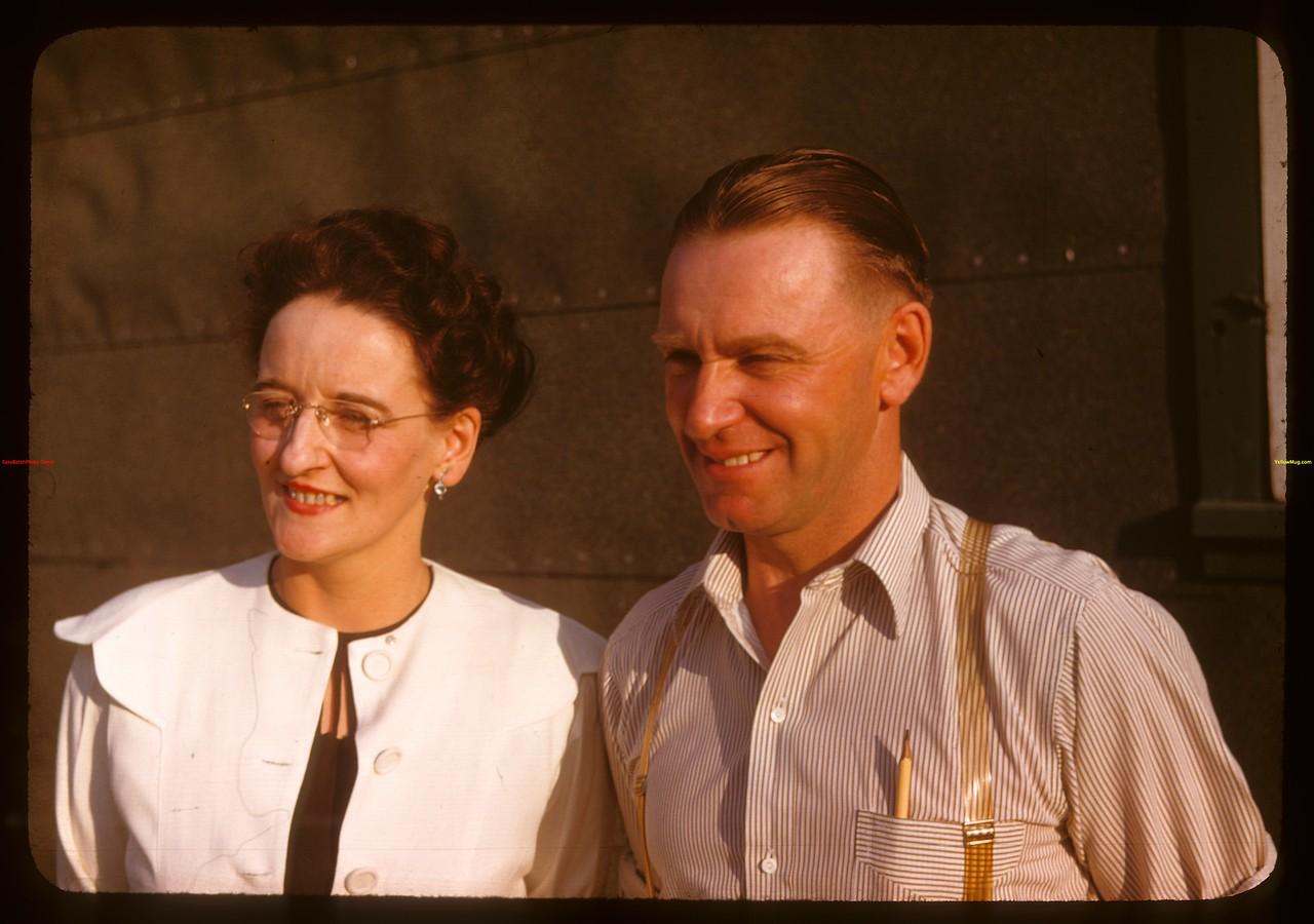 Mr & Mrs Bert Riddell pool agent - Davis at PA co-op school..  Prince Albert.  07/09/1947