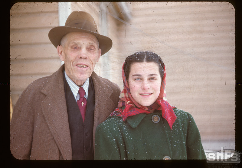 Arthur Leach - Post Master & Grand-Daughter South Fork 01/09/1948