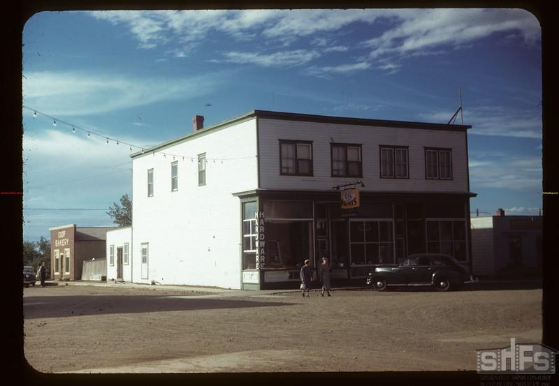 Davidson co-op hardware store and bakery. Davidson. 07/26/1949
