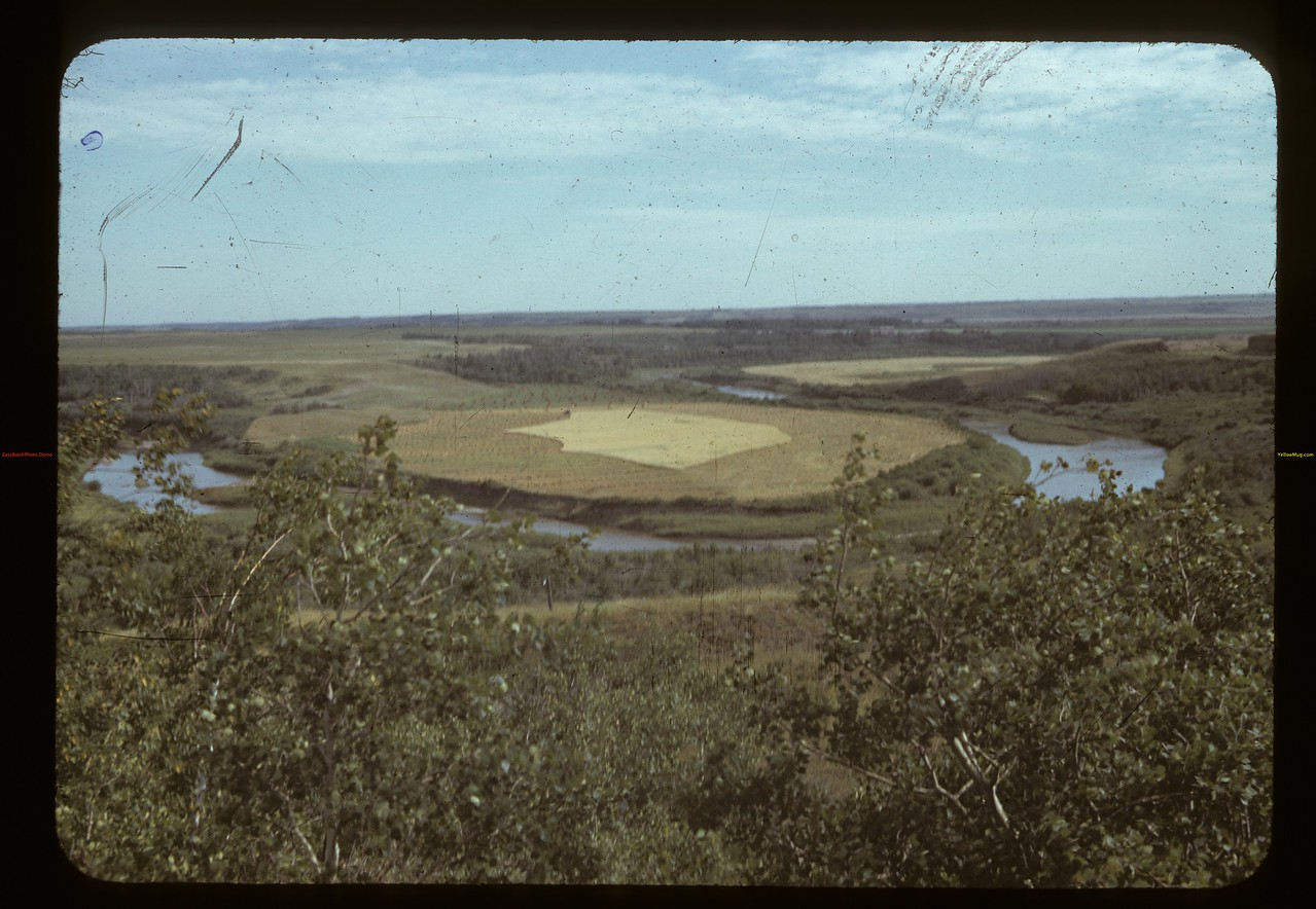 field and Battle River 6 miles west of Battleford. Battleford 08/18/1942