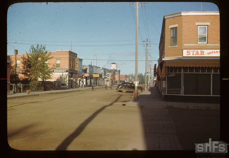 Melfort main street - looking west Melfort 09/28/1946