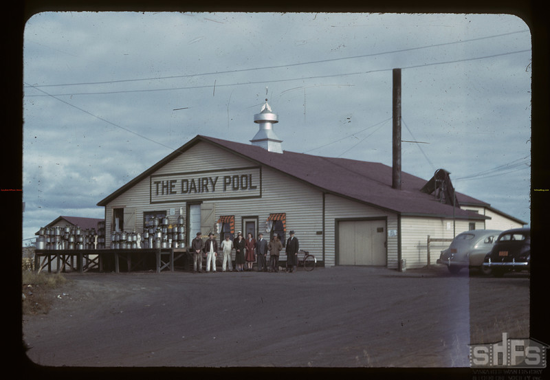 The Dairy Pool creamery. Biggar. 09/23/1942