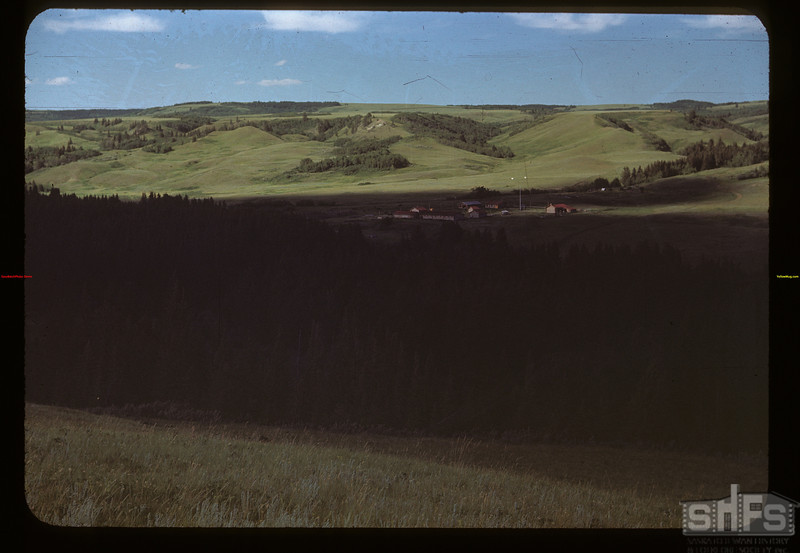 Looking NE - Old Fort Walsh in the shadows - Old Town was just beyond. Maple Creek 07/04/1948