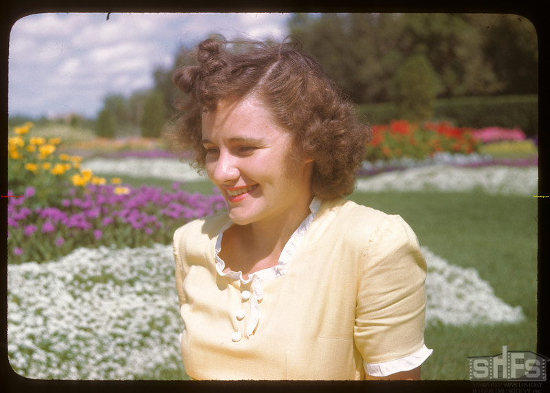 Miss Caroline Meyer Secretary US Co-op Tour.  Regina.  08/10/1946